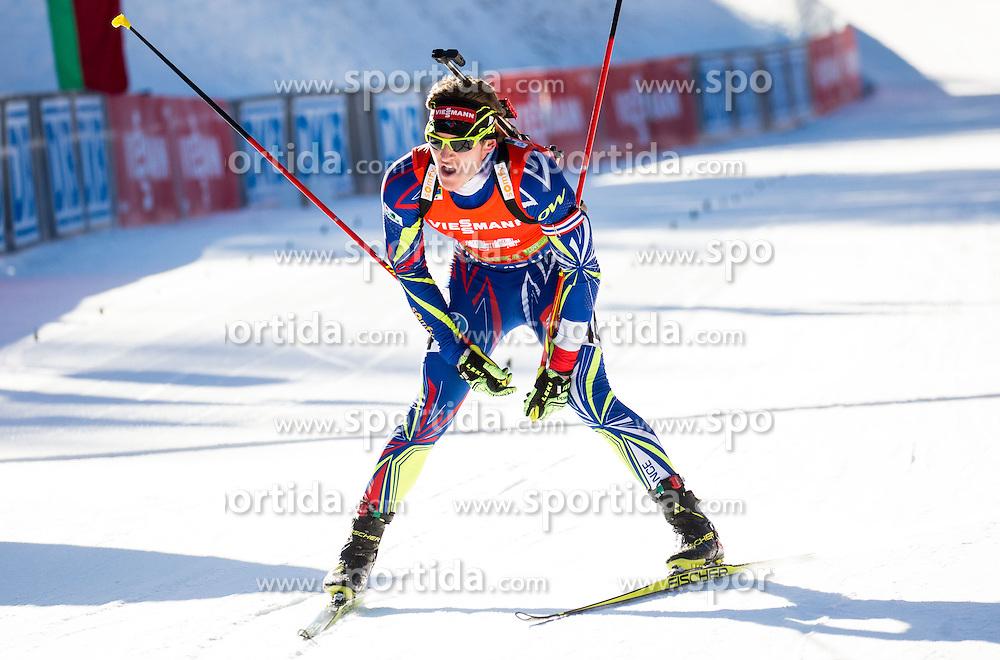 Florent Claude (FRA) during Men 12,5 km Pursuit at day 3 of IBU Biathlon World Cup 2015/16 Pokljuka, on December 19, 2015 in Rudno polje, Pokljuka, Slovenia. Photo by Vid Ponikvar / Sportida