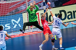 Viktoriia Kalinina of Russia in action during the Women's EHF Euro 2020 match between France and Russia at Jyske Bank BOXEN on december 11, 2020 in Kolding, Denmark (Photo by RHF Agency/Ronald Hoogendoorn)
