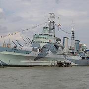 HMS Belfast on 18 July 2019, City of London, UK.