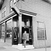 Y-580916-11.  New Old Lompac Tavern, 2701 SW 1st, corner of Arthur St., man entering front door. October 16, 1958