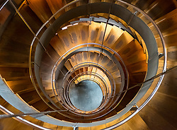Interior stairway at The Lighthouse, Scotland's Centre for Design and Architecture ,former Glasgow Herald Building , designed by architect Charles Rennie Mackintosh, Glasgow, United Kingdom