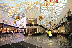 © Licensed to London News Pictures. 24/11/2017. Leeds, UK. Picture shows the empty Victoria Gate shopping centre in Leeds this morning on Black Friday. Photo credit: Andrew McCaren/LNP