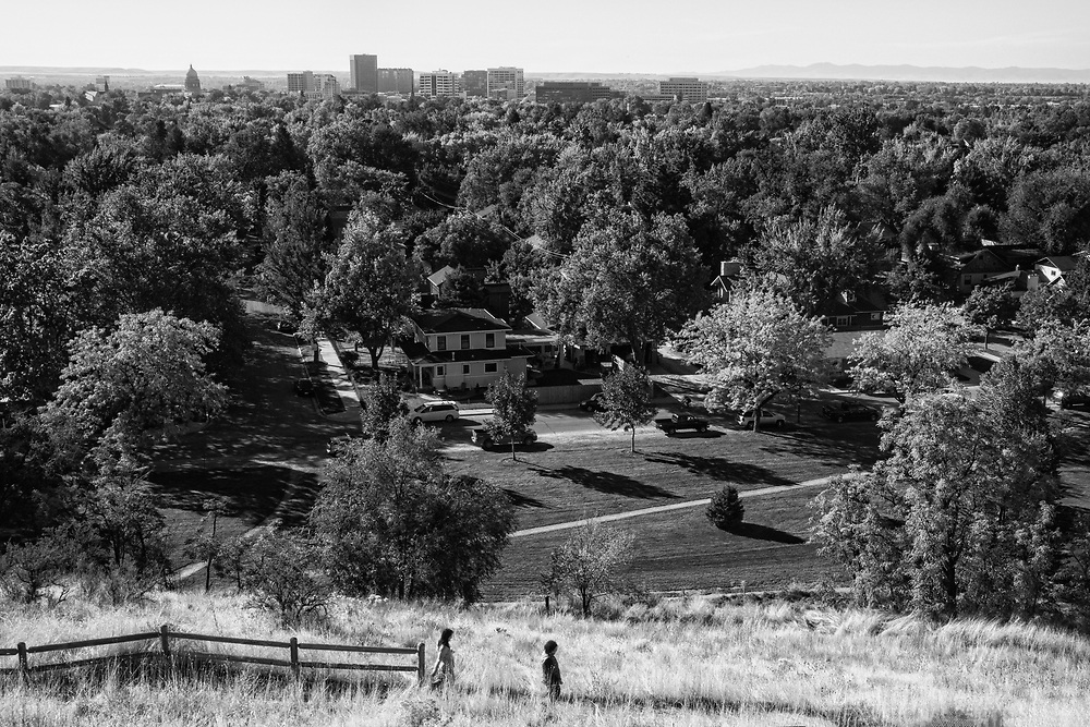 View of Boise from Camel's Back Park (monochrome)