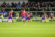 Aldershot players celebrate their equaliser, 1-1 during the Vanarama National League match between Forest Green Rovers and Aldershot Town at the New Lawn, Forest Green, United Kingdom on 5 November 2016. Photo by Shane Healey.