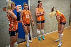 30-05-2019 NED: Volleyball Nations League Netherlands - Poland, Apeldoorn<br /> Marrit Jasper #18 of Netherlands, Eline Timmerman #31 of Netherlands
