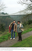 Wally Blacker and Hugo Spowers during David Kirke's 21 St Anniversary  bungy jump off Clifton Suspension Bridge. 1 April 2000. <br /> <br />© Copyright Photograph by Dafydd Jones 66 Stockwell Park Rd. London SW9 0DA Tel 020 7733 0108 www.dafjones.com