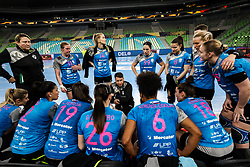 Uros Bregar, head coach of Krim Mercator during 1st Leg handball match between RK Krim Mercator (SLO) and CSKA Moscow (RUS) in the Round of 16 of Delo EHF Women's Champions League 2020/21, on March 6, 2021 in Arena Stozice, Ljubljana, Slovenia. Photo by Vid Ponikvar / Sportida