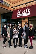 An employee at The Loft Hair Salon employee has her portrait taken in Madison, Wisconsin on March 21, 2021.<br /> <br /> Beth Skogen Photography<br /> www.bethskogen.com