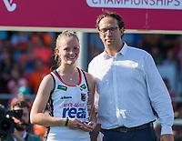 ANTWERPEN - Young talent of the tournament, de   finale  dames  Nederland-Duitsland  (2-0) bij het Europees kampioenschap hockey.   COPYRIGHT  KOEN SUYK