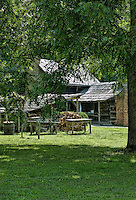 Great Smoky Mountains Farm,Oconaluftee, North Carolina.Smoky Mountains National Park, USA.