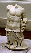 Triton Artery, (The son of Poseidon) depicted in a sculpture from the north side of the great altar at Pergamum. 160 BC