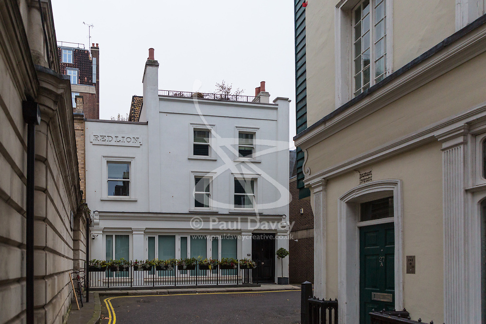The SUN: Red Lion House is a high spec 'Grand Designs' style 6 bedroom, 6 bathroom house constructed on the sight of the former RedLion Pub on Waverton Street in London's plush Mayfair. Mayfair, London, November 16 2018.