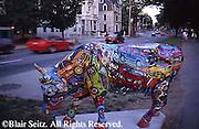 Cattle Theme Art, Riverside Park, Harrisburg, PA City Center