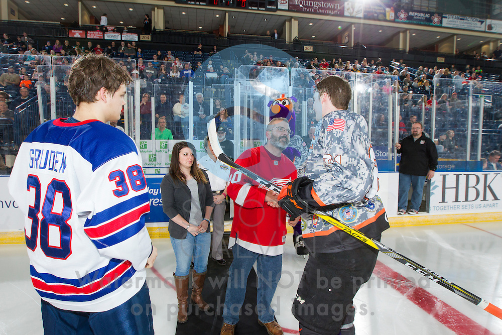 The Youngstown Phantoms defeat Team USA NTDP 3-2 in a shootout at the Covelli Centre on February 18, 2017.<br /> <br /> Tommy Apap, forward, 21