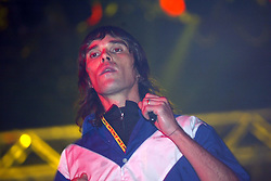 Ian Brown on the King Tut's Wah Wah Tent, on Sunday 10 July, 2005 at T in the Park, at Balado, Fife...