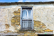Typical Spanish traditional architecture at Triacastela in Galicia, Spain