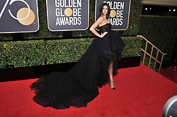 Kendall Jenner  at the 75th Golden Globe Awards held at the Beverly Hilton in Beverly Hills, CA on January 7, 2018.<br /><br />(Photo by Sthanlee Mirador)