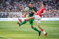 (L-R) Sven van Beek of Feyenoord, Guus Til of AZ during the Dutch Toto KNVB Cup Final match between AZ Alkmaar and Feyenoord on April 22, 2018 at the Kuip stadium in Rotterdam, The Netherlands.