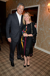 NICHOLAS HOFGREN and his wife SOPHIE CONRAN at the Blue Monday Cheese Launch presented by Alex James and held at The Cadogan Hotel, Sloane street, London on 11th June 2013.