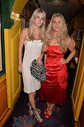 Left to right, Georgie McIntyre and Francesca Ely at the Annabel's Bright Young Things Party at Annabel's, Berkeley SquareLondon England. 8 June 2017.<br /> Photo by Dominic O'Neill/SilverHub 0203 174 1069 sales@silverhubmedia.com