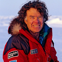 Will Steger on Arctic Ocean during training for International Arctic Project, 1994.