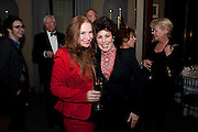 JUDITH OWEN; RUBY WAX, Veuve Clicquot Tribute award dinner for Ruby Wax for her outstanding contribution to the greater understanding of mental illness in the UK. Berkeley Hotel, London. 25 November 2011.
