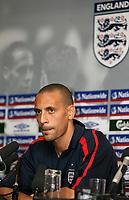 Photo: Paul Thomas.<br /> England Press Conference. 04/10/2006.<br /> <br /> Rio Ferdinand.