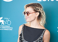 Venice, Italy, 31st August 2019, Micaela Ramazzotti at the photocall for the film Vivere (To Live) at the 76th Venice Film Festival, Sala Grande. Credit: Doreen Kennedy/Alamy Live News