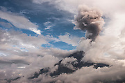 Tungurahua Volcano<br /> Cordillera Oriental near Baños<br /> Andes<br /> ECUADOR, South America<br /> Elevation: 16,480′ or 5,023 m