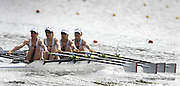 Poznan, POLAND,  GBR LW4X bow Sophie HOSKING, Andrea DENNIS, Laura GREENHALGH and Jane HALL, move away from the start in their morning heat, at the 2008 FISA World Cup. Rowing Regatta. Malta Rowing Course on Saturday, 21/06/2008. [Mandatory Credit:  Peter SPURRIER / Intersport Images] Rowing Course:Malta Rowing Course, Poznan, POLAND