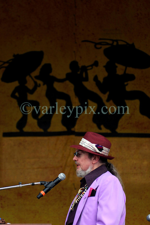 April 27 2007. New Orleans, Louisiana. <br /> The New Orleans Jazz and Heritage Festival. Dr John plays the main Acura Stage.<br /> Photo credit; Charlie Varleyvarleypix.com
