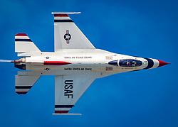 """The U.S. Air Force Air Demonstration Squadron """"Thunderbirds"""" perform at the Arctic Thunder Open House in Anchorage, Alaska, July 1, 2018. (U.S. Air Force photo by Senior Airman Cory W. Bush)"""
