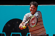 Milos Raonic of Canada in action during the Mutua Madrid Open 2018, tennis match on May 10, 2018 played at Caja Magica in Madrid, Spain - Photo Oscar J Barroso / SpainProSportsImages / DPPI / ProSportsImages / DPPI