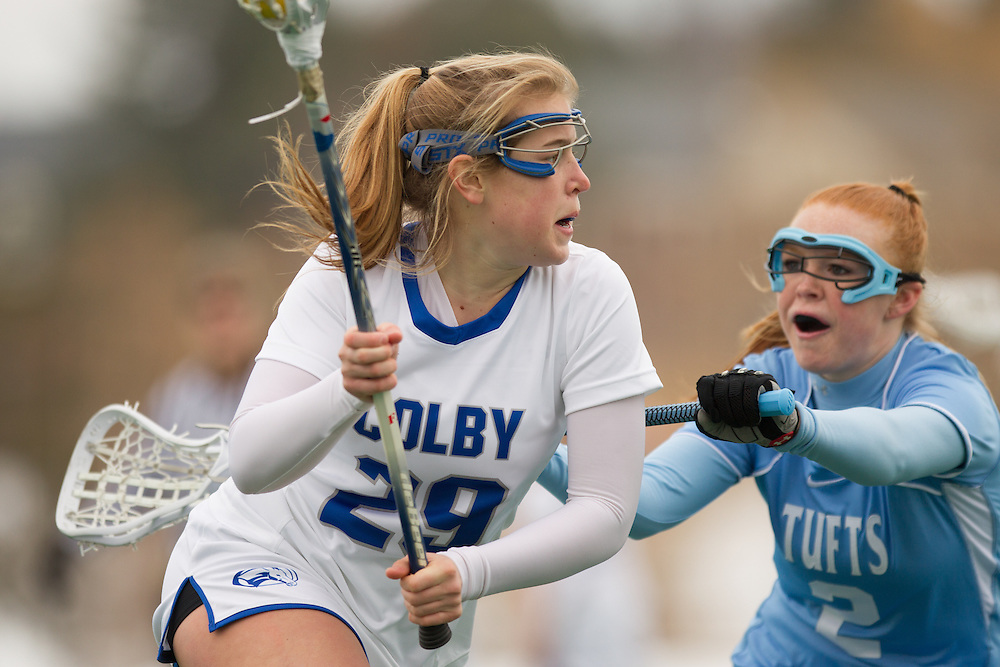 Abby Hooper of Colby College, during a NCAA Division III women's lacrosse game against at Tufts University on March 15, 2014 in Waterville, ME. (Dustin Satloff/Colby Athletics)