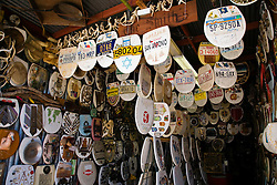 San Antonio, TX:  A mind-boggling display of decorated toilet seats fill Barney Smith's Toilet Seat Art Museum in Alamo Heights.