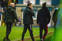 Brora Rangers manager Steven MacKay after a late miss. Morton 1 v 1 Brora Rangers, 3rd Round of the Scottish Cup played 23/11/2019 at Cappielow, Greenock.