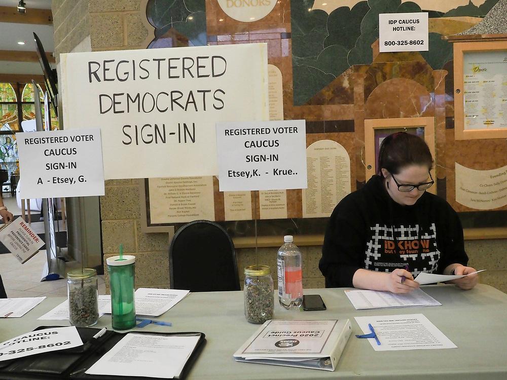 Fairfield Iowa residents prepare for the February 3, 2020 Democratic Caucus