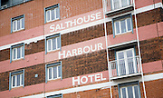 Former industrial building converted to Salthouse Harbour hotel, Wet Dock, Ipswich, Suffolk, England