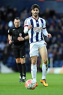West Brom's Claudio Jacob in action. The Emirates FA Cup, 4th round match, West Bromwich Albion v Peterborough Utd at the Hawthorns stadium in West Bromwich, Midlands on Saturday 30th January 2016. pic by Carl Robertson, Andrew Orchard sports photography.