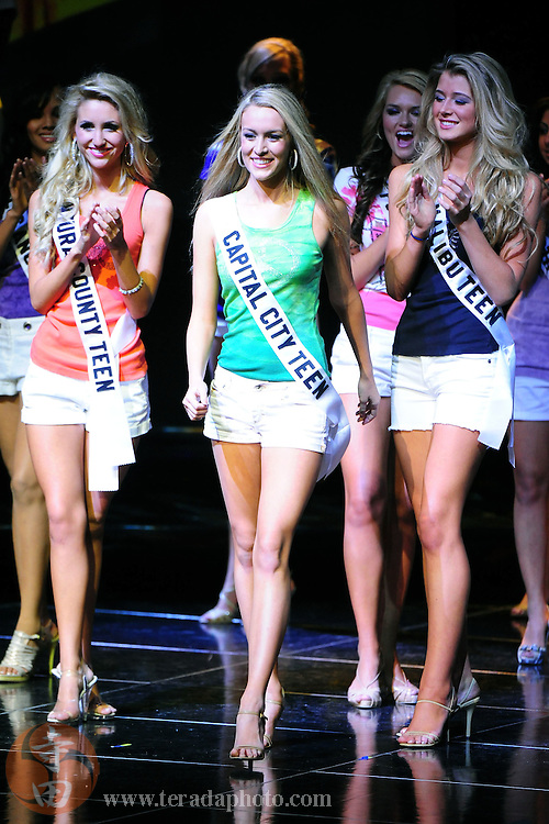 """November 22, 2009; Rancho Mirage, CA, USA; Miss Capital City Teen USA Alexandra Ritschard smiles after being announced a Top 15 finalist during the Miss California Teen USA 2010 Pageant at """"The Show"""" at the Agua Caliente Resort & Spa. Mandatory Credit: Kyle Terada-Terada Photo"""