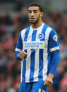 Brighton defender Connor Goldson during the Sky Bet Championship match between Brighton and Hove Albion and Middlesbrough at the American Express Community Stadium, Brighton and Hove, England on 19 December 2015. Photo by Bennett Dean.