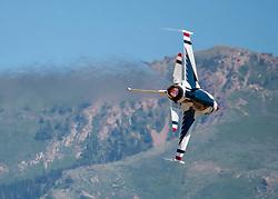 The U.S. Air Force Air Demonstration Squadron Thunderbirds perform at the Utah Air Show in Ogden, Utah, June 22, 2018. (U.S. Air Force Photo by Senior Airman Cory W. Bush)