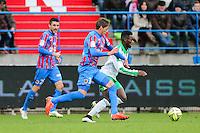 Jonathan BAMBA / Emiliano SALA - 01.02.2015 - Caen / Saint Etienne - 23eme journee de Ligue 1 -<br />Photo : Vincent Michel / Icon Sport