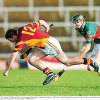 2 December 2007; Danny O'Halloran, Tulla, in action against Tom King, Loughmore Castleiney. AIB Munster Club Hurling Championship Final, Loughmore-Castleiney, Tipperary v Tulla, Clare, Gaelic Grounds, Limerick. Picture credit; Brendan Moran / SPORTSFILE