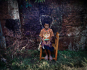 Portrait Series.<br /> <br /> A portrait of Mina (11) who is infected with the HIV virus after an older man raped her.  Mina found a sanctuary and support at the temporary shelter of Public Health Development Foundation (YPKM).