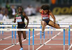 May 31, 2018 - Rome, Italy - Sharika Nelvis (USA) competes in 100m hurdles women during Golden Gala Iaaf Diamond League Rome 2018 at Olimpico Stadium in Rome, Italy on May 31, 2018. (Credit Image: © Matteo Ciambelli/NurPhoto via ZUMA Press)