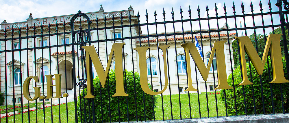 The house of Champagne G.H. Mumm in rue de Champ de Mars in Reims, Champagne-Ardenne, France