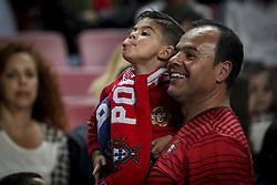 March 22, 2019 - Lisbon, Portugal - A boy and his son during the Euro 2020 qualifying football match Portugal vs Ukraine at Luz stadium in Lisbon on March 22, 2019. (Credit Image: © Filipe Amorim/NurPhoto via ZUMA Press)