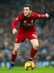Liverpool's Andrew Robertson during the Premier League match at the Etihad Stadium, Manchester.