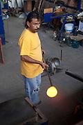 Glass blowing, Tonala, Guadalajara, Jalisco, Mexico
